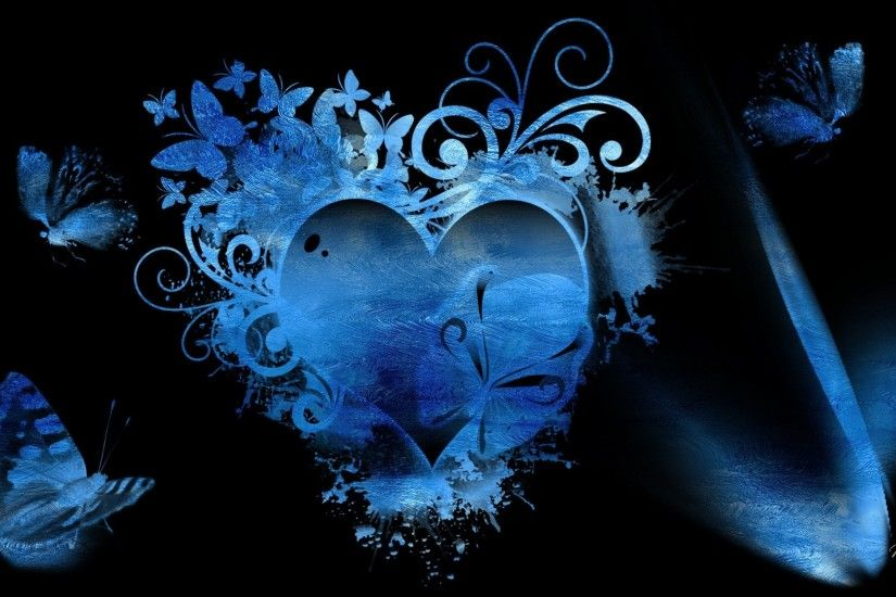 1920x1080 Blue Hearts Wallpaper - Wallpapers High Definition
