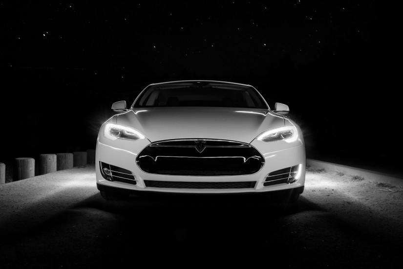 car, Tesla S, Night Wallpaper HD