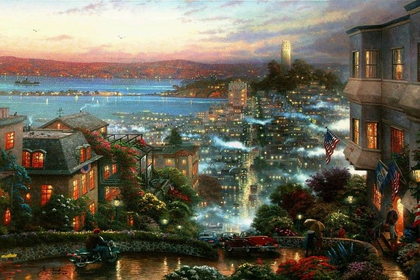 desktop with Free Christmas Desktop Wallpaper Thomas Kinkade .