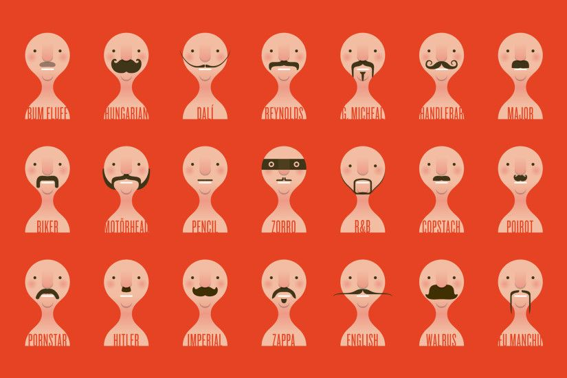Weekly Wallpaper: Put Moustaches On Your Desktop In Honour .