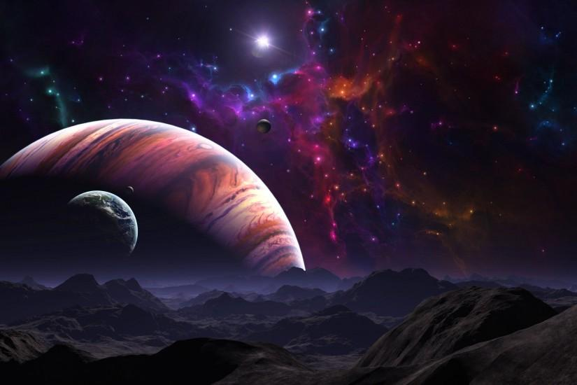 download free space background 2560x1600 for tablet