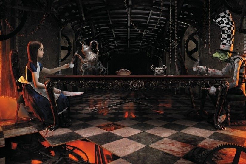 Video games Mad Hatter artwork American McGees Alice wallpaper | 1920x1080  | 324069 | WallpaperUP