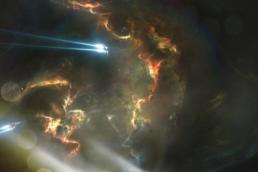 Abstract outer space eve online wallpaper