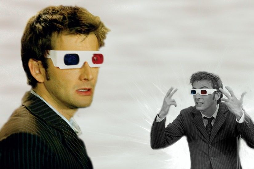 david tennant doctor who tenth doctor 3d glasses 1680x1050 wallpaper Art HD  Wallpaper