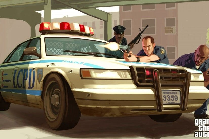 Preview wallpaper lcpd, gta 4, police, cop, car, shot 1920x1080