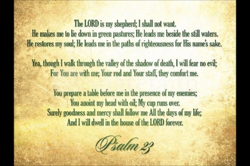... Psalm 23 Wallpaper 50 images