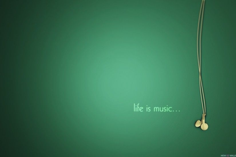 Life Is Music Wallpaper Background