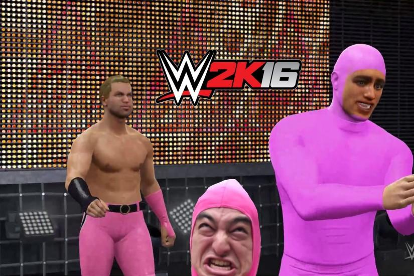 PINK GUY GETS ATTACKED! (WWE 2k16)