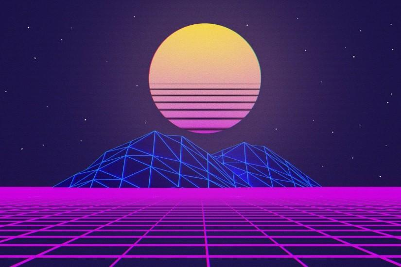 vaporwave background 1920x1200 for android tablet