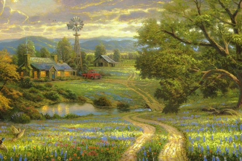 9. thomas-kinkade-wallpaper-HD9-600x338
