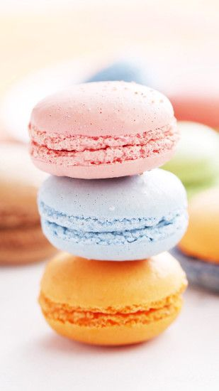 かわいいマカロンiPhone壁紙 Wallpaper. French MacaroonsPastel ...