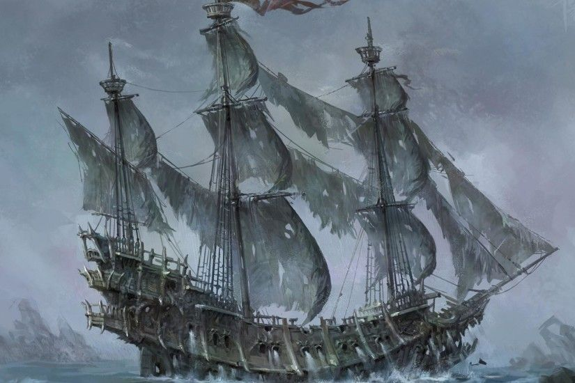 Ships flying dutchman artwork sail ship sailing wallpaper 65244 1920x1080