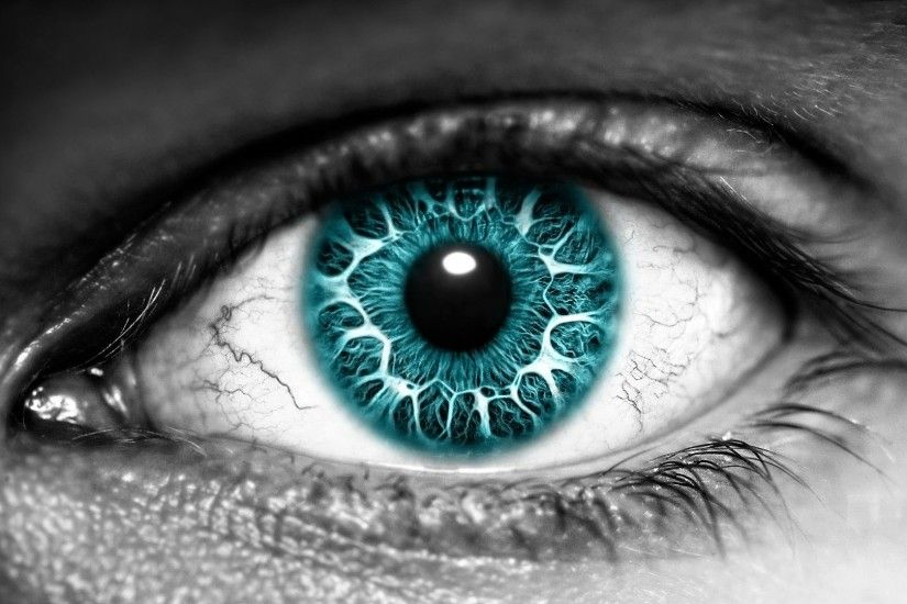 3D Eye With Blue Eyeball Wallpaper | HD 3D and Abstract Wallpaper Free  Download ...