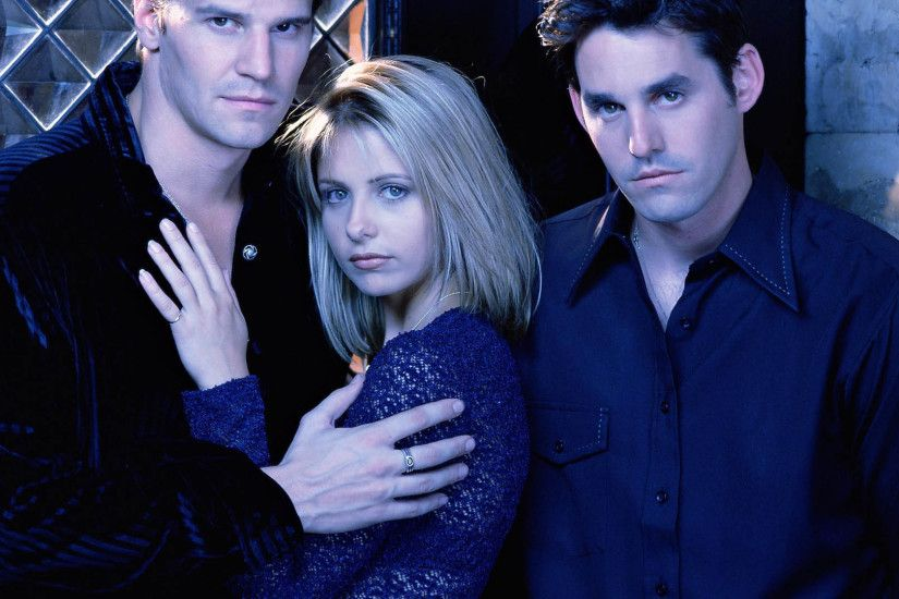 Buffy the Vampire Slayer - Angel, Buffy & Xander 1920x1080 wallpaper