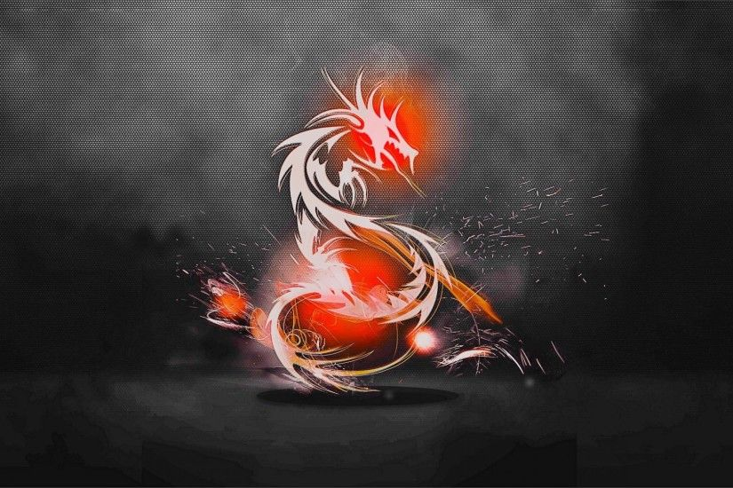 Preview wallpaper dragon, background, light, shadow 1920x1080