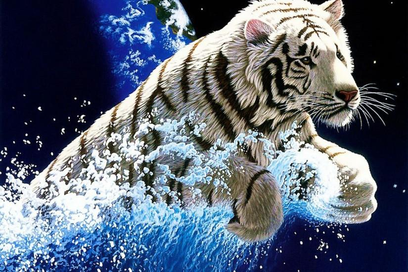 White Tiger Widescreen Wallpapers