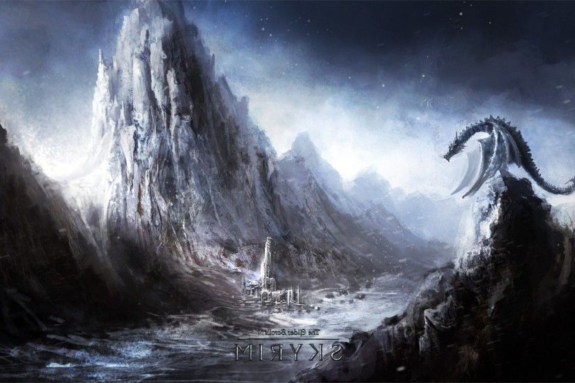 video Games, Fantasy Art, The Elder Scrolls V: Skyrim, Dragon Wallpapers HD  / Desktop and Mobile Backgrounds