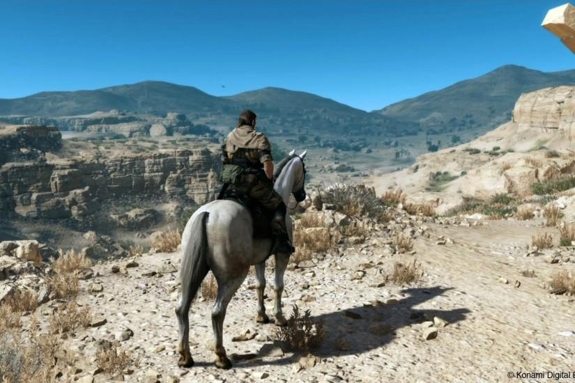 Big Boss Riding Horse in Afghanistan - Metal Gear Solid V: The Phantom Pain  1920x1080