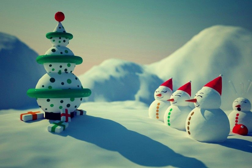 Snowman Merry Christmas HD Wallpapers Free.