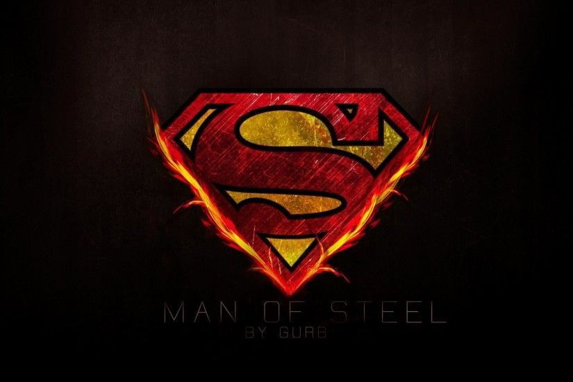 ... Superman Logo on Fire Wallpaper ...