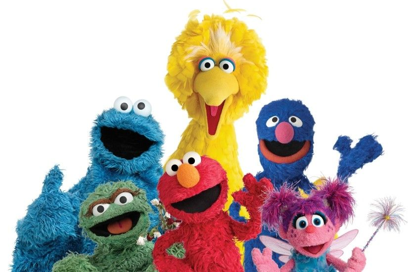 Images of Elmo, Big Bird, Ernie, the Count and others from Sesame .