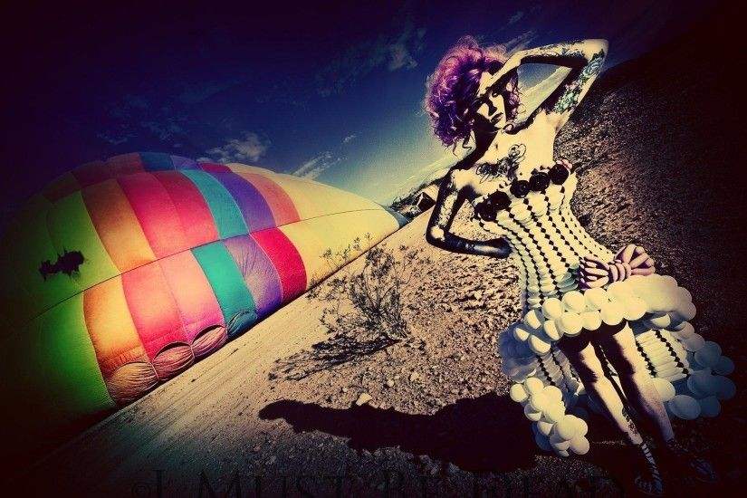 Multi Color Woman & Parachute wallpapers and stock photos