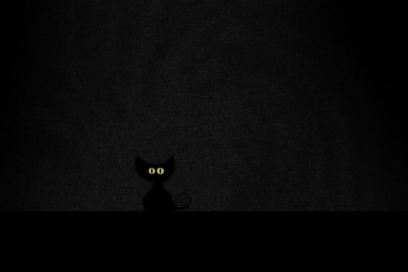 2560x1600 Wallpaper eyes, minimalism, black, cat