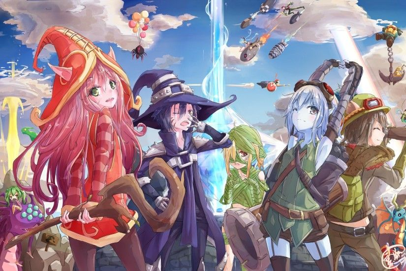 league of legends, jinx, lulu, zac, teemo, nautilus, tristana, anime style