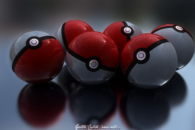 Pokeball 1080P Wallpaper by PrinceZain Pokeball 1080P Wallpaper by  PrinceZain