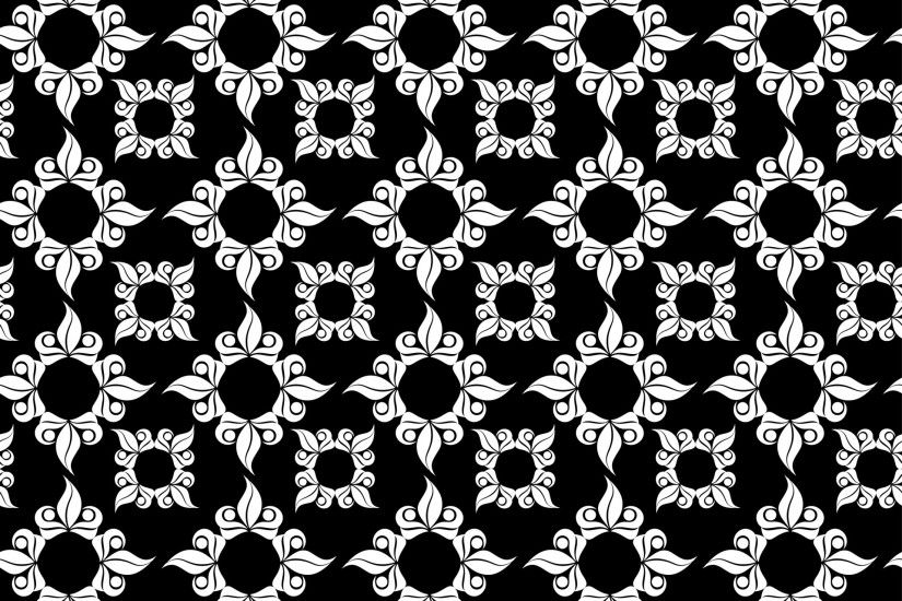 Ornamental Black, White Background