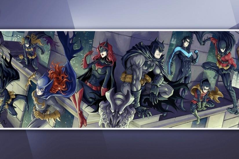 DC Comics, Batman, Nightwing, Batgirl, Batwoman, Red Robin, Red Hood, Robin  III Wallpaper HD