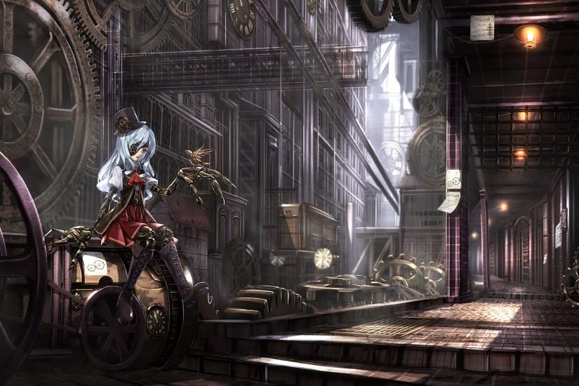 best steampunk background 2560x1440