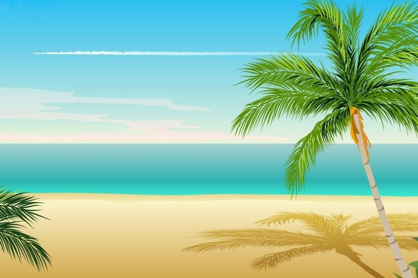Palm tree 1920x1080 vector wallpaper.