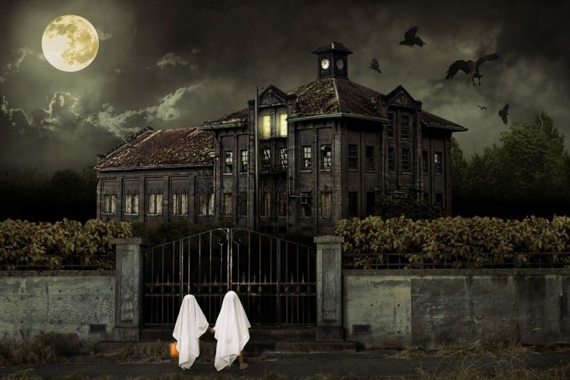 Halloween Scary House Wallpapers | HD Wallpapers | Latest Halloween Scary  House 1920x1200