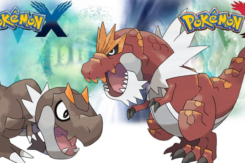 Pokemon X Y - Wallpaper - Tyrunt and Tyrantrum by Thelimomon