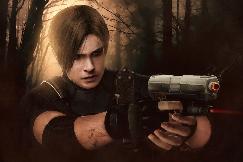 ... Resident evil 4, Leon Kennedy wallpaper by push-pulse