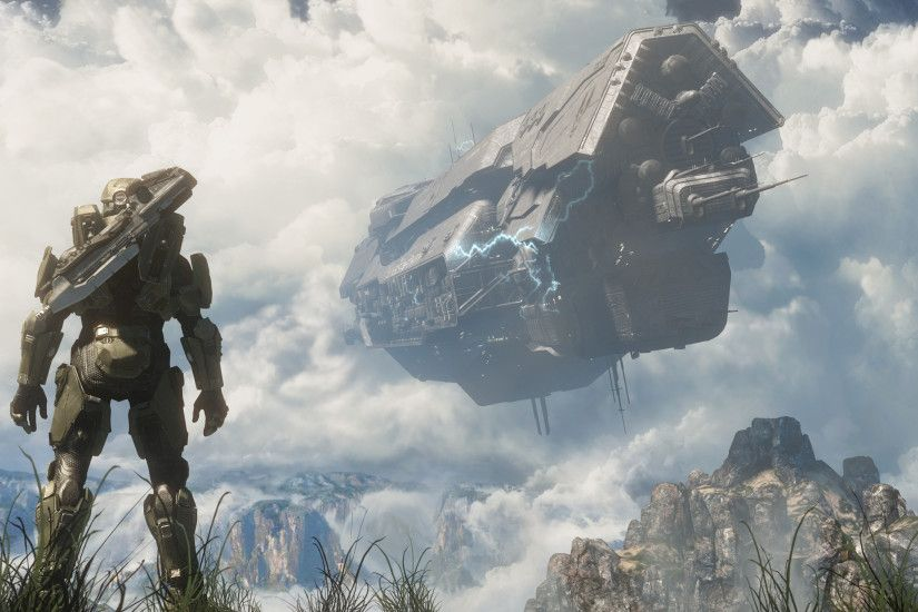 Video Game - Halo Halo 4 Master Chief Ship Sci Fi Wallpaper