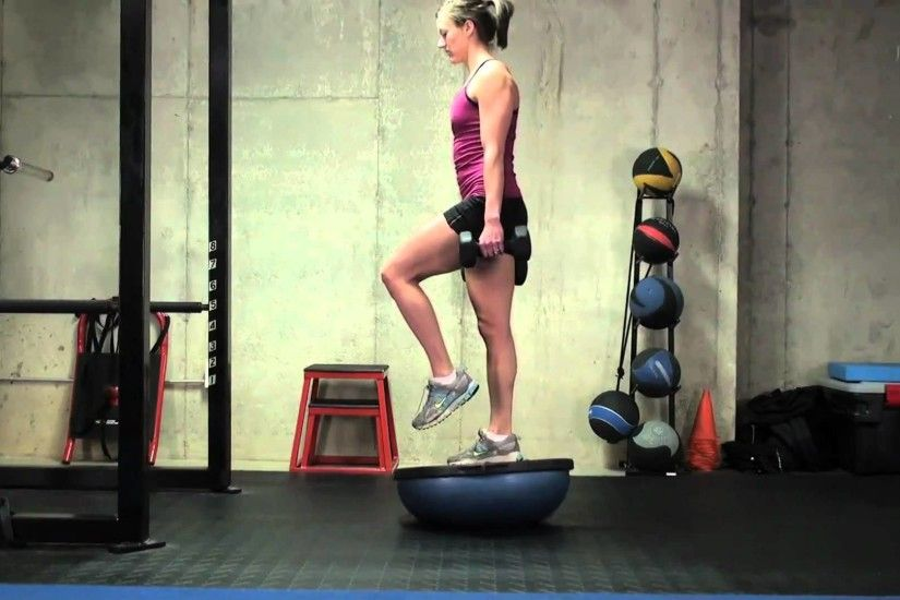 Exercise of the week, Single Leg Squat on Bosu Ball