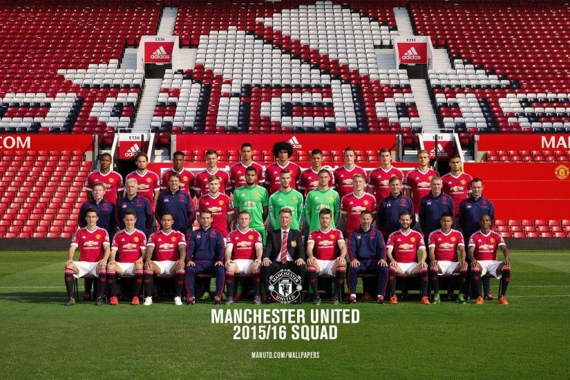 Manchester United 2015-16 Official Squad wallpapers