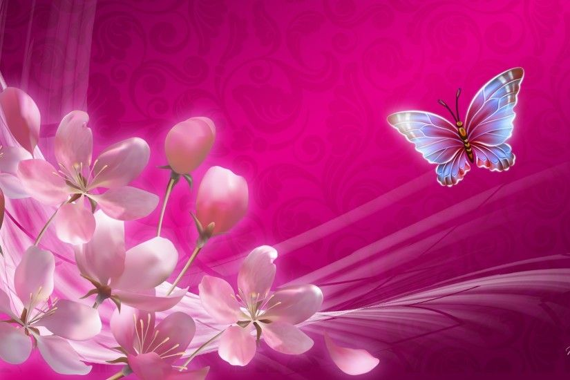 Celebration Spring Sakura Flowers Butterfly Blooms Pink Apple Blossoms  Smoke Bright Cherry Bleurs Desktop Rose Flower Wallpaper Detail