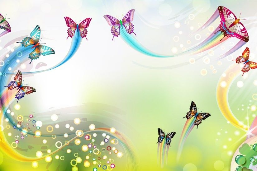 Artistic - Butterfly Artistic Colors Spring Pastel Wallpaper