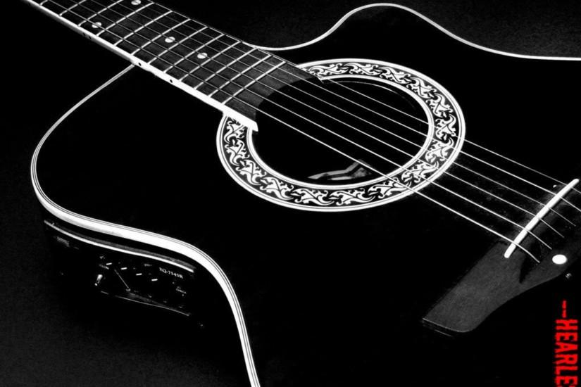 1920x1440 px HD Desktop Wallpaper : Sweet Black Acoustic Guitar .