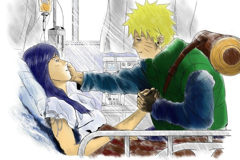 naruto, anime, hinata, hospital, love, scroll, shinobi, care,