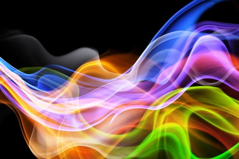 3d Abstract Colorful Smoke Wallpaper #2722 Wallpaper computer .