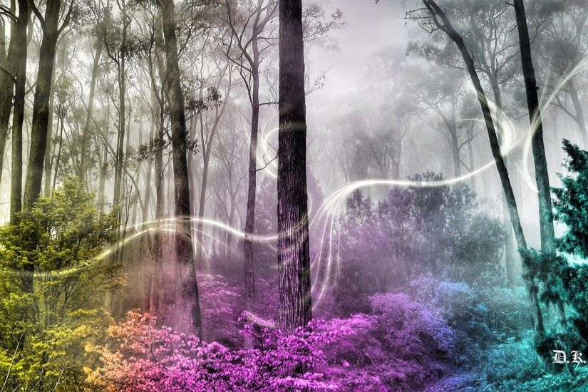 Wallpapers For > Enchanted Fairy Forest Background