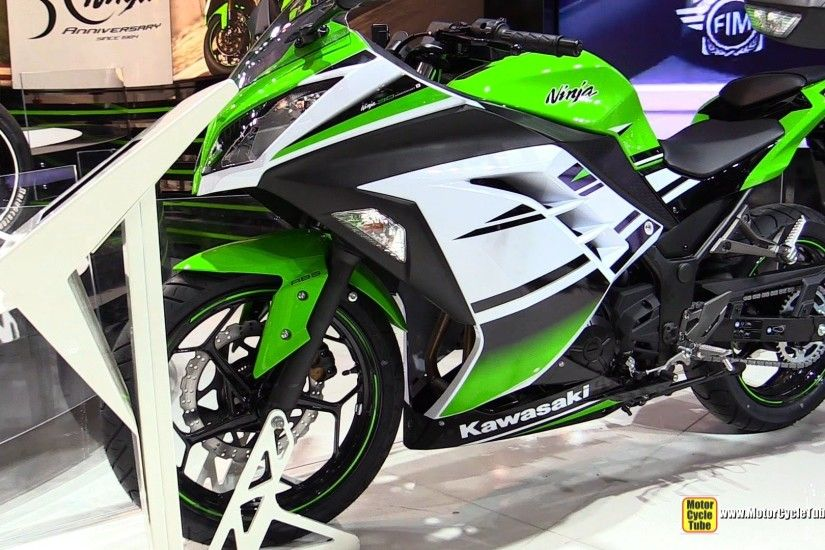 2015 Kawasaki Ninja 300 30th Anniversary Edition - Walkaround - 2014 EICMA  Milan Motorcycle Show - YouTube