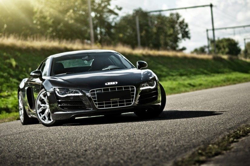 ... Audi R8 black wallpaper-1920×1200 ...