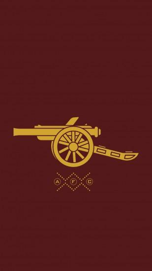 Simplistic mobile wallpaper : Gunners