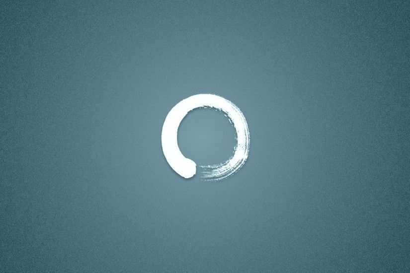 General 1920x1080 abstract digital art circle simple background ensō zen  minimalism ouroboros blue background