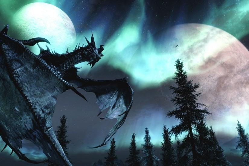 Description The Wallpaper Above Is Dragon Fire Skyrim Wallpaper In ..